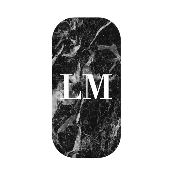 Personalised Black Stone Marble Initials Clickit