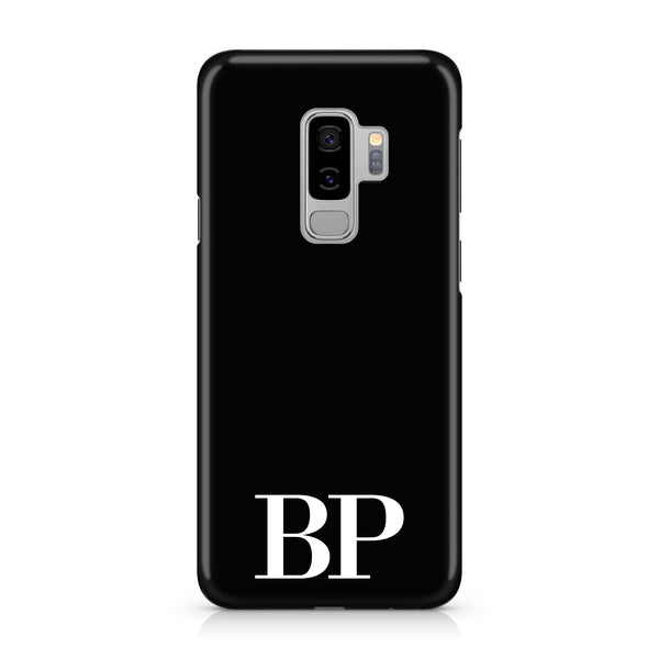 Personalised Black x White Initials Samsung Galaxy S9 Plus Case