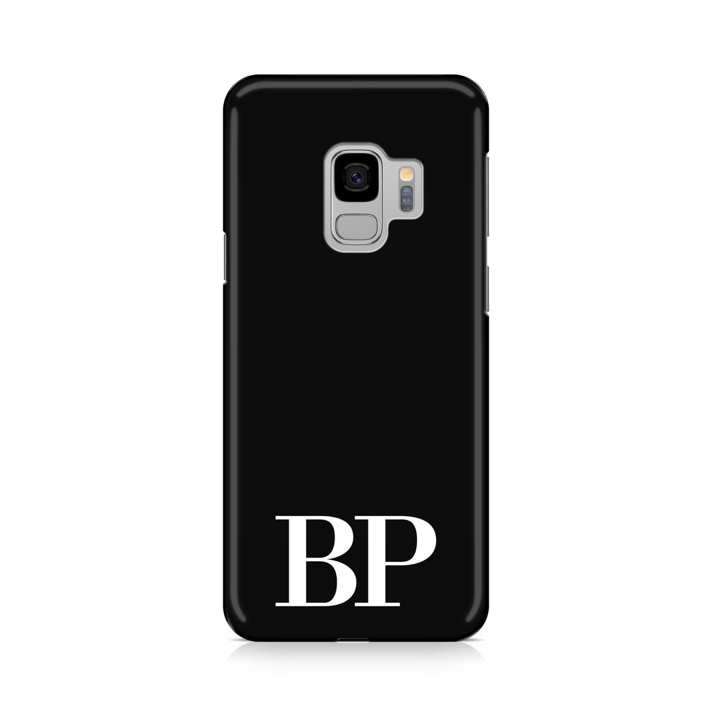 Personalised Black x White Initials Samsung Galaxy S9 Case
