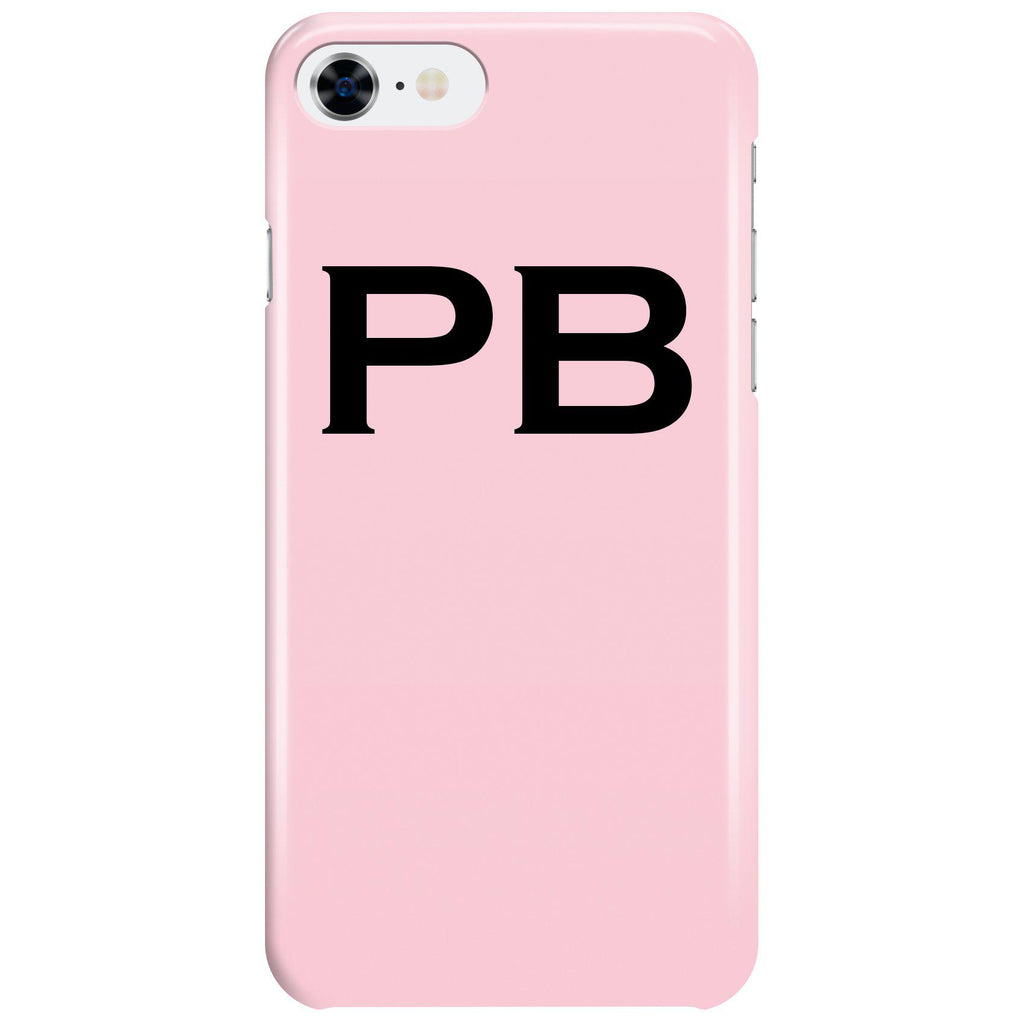 Personalised Bloom Top Initials iPhone 7 Case