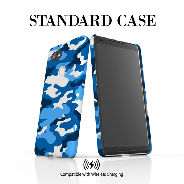 Personalised Blue Camouflage Initials Google Pixel 2 XL Case