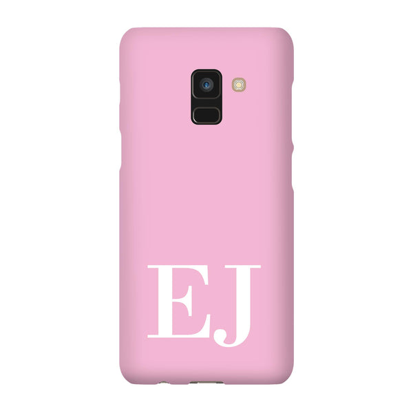 Personalised Pink x White Initials Samsung Galaxy A8 Case