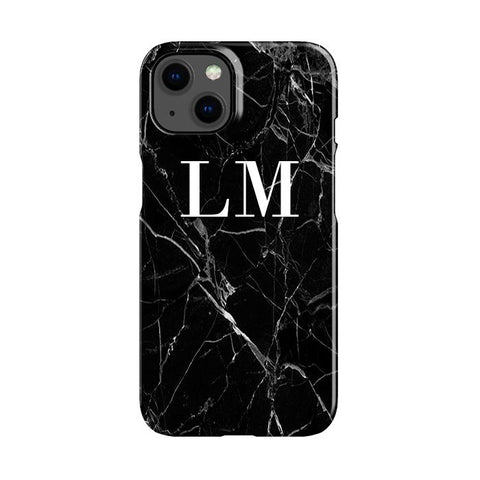 Personalised Black Marble Initials Samsung Galaxy A51 5G Case