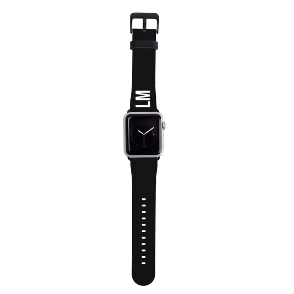 Personalised Black Apple Watch Strap