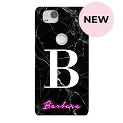 Personalised Neon Initial Name Google Pixel 2 Case