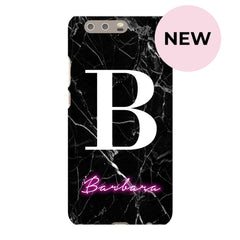 Personalise Neon Initial Name Huawei P10 Plus Case