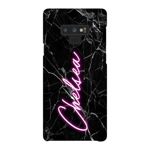 Personalised Neon Name Samsung Galaxy Note 9 Case
