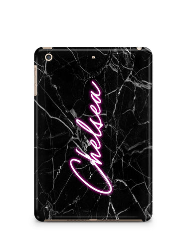 Personalised Neon Name iPad Case