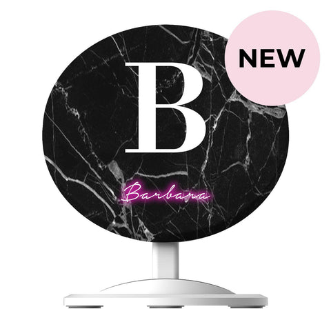 Personalise Neon Initial Name Wireless Charger
