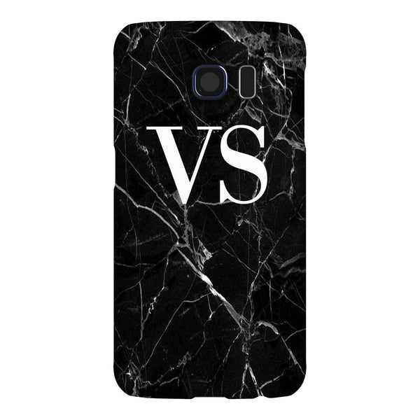 Personalised Black Marble Initials Samsung Galaxy S6 Edge Case
