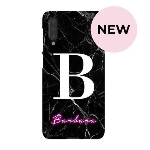 Personalised Neon Initial Name Samsung Galaxy A50 Case