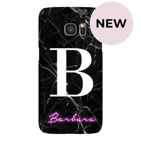 Personalised Neon Initial Name Samsung Galaxy S7 Edge Case