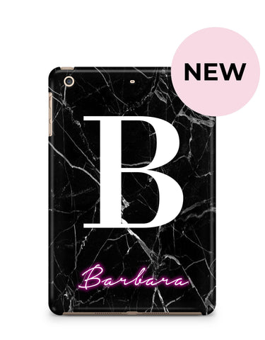 Personalised Neon Initial Name iPad Case