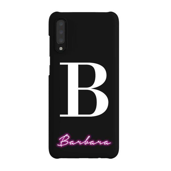 Personalised Neon Initial Name Samsung Galaxy A70 Case