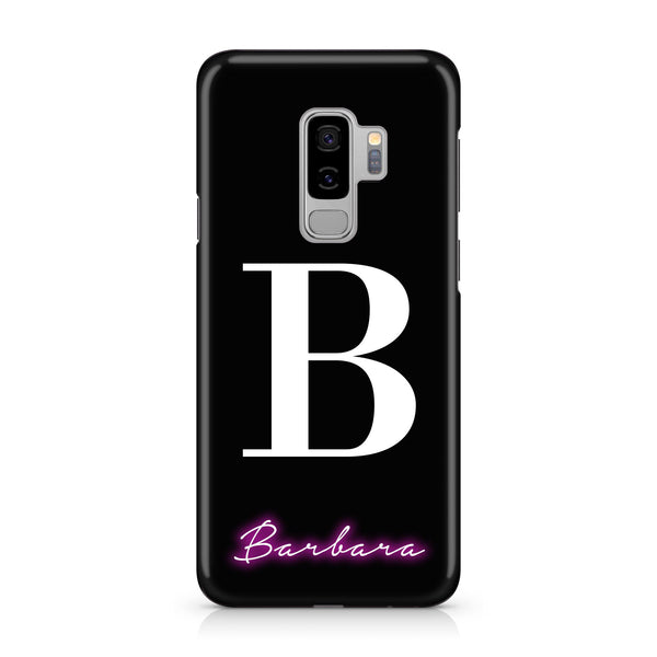 Personalised Neon Initial Name Samsung Galaxy S9 Case