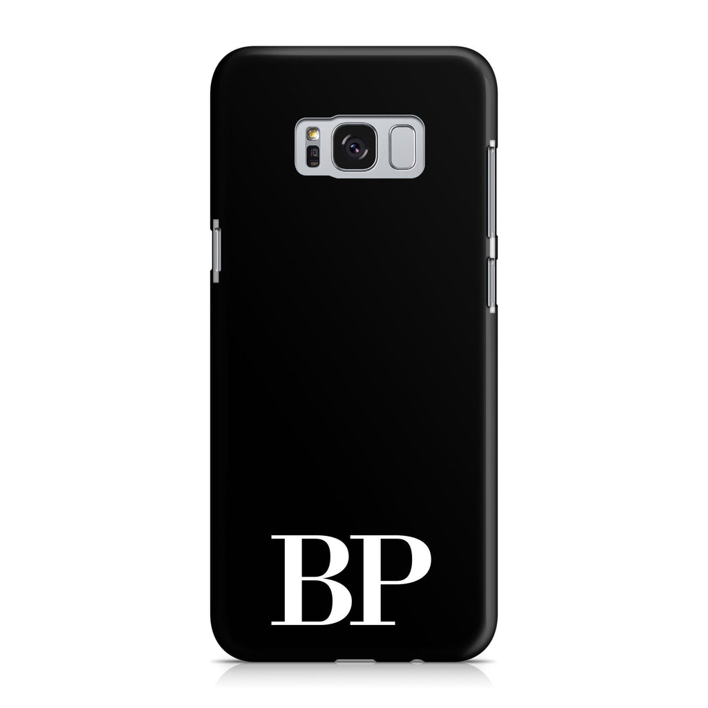Personalised Black x White Initials Samsung Galaxy S8 Case