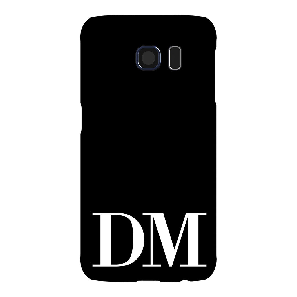 Personalised Black x White Initials Samsung Galaxy S6 Case