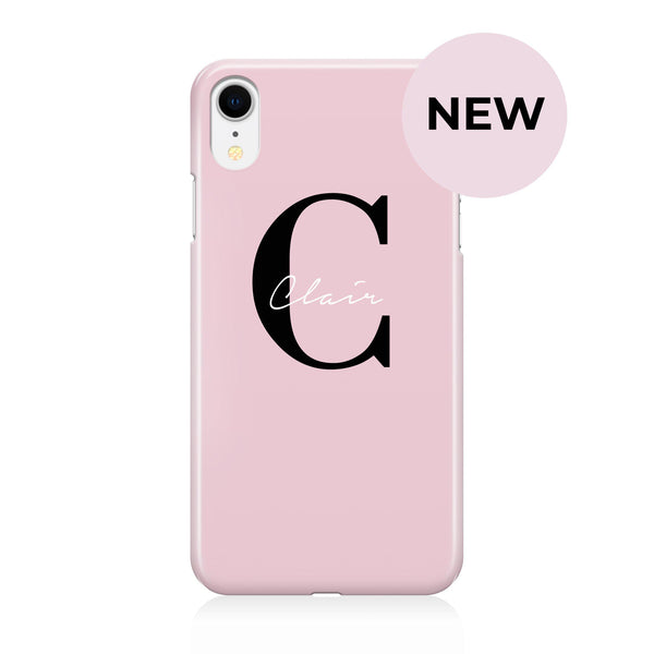 Personalised Bloom Name Initial iPhone XR Case