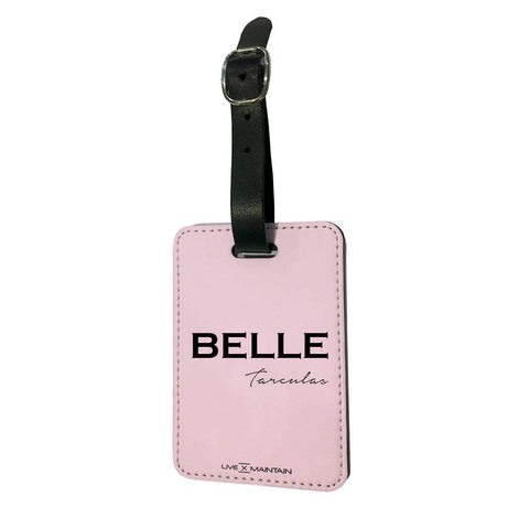 Personalised Bloom Name Luggage Tag