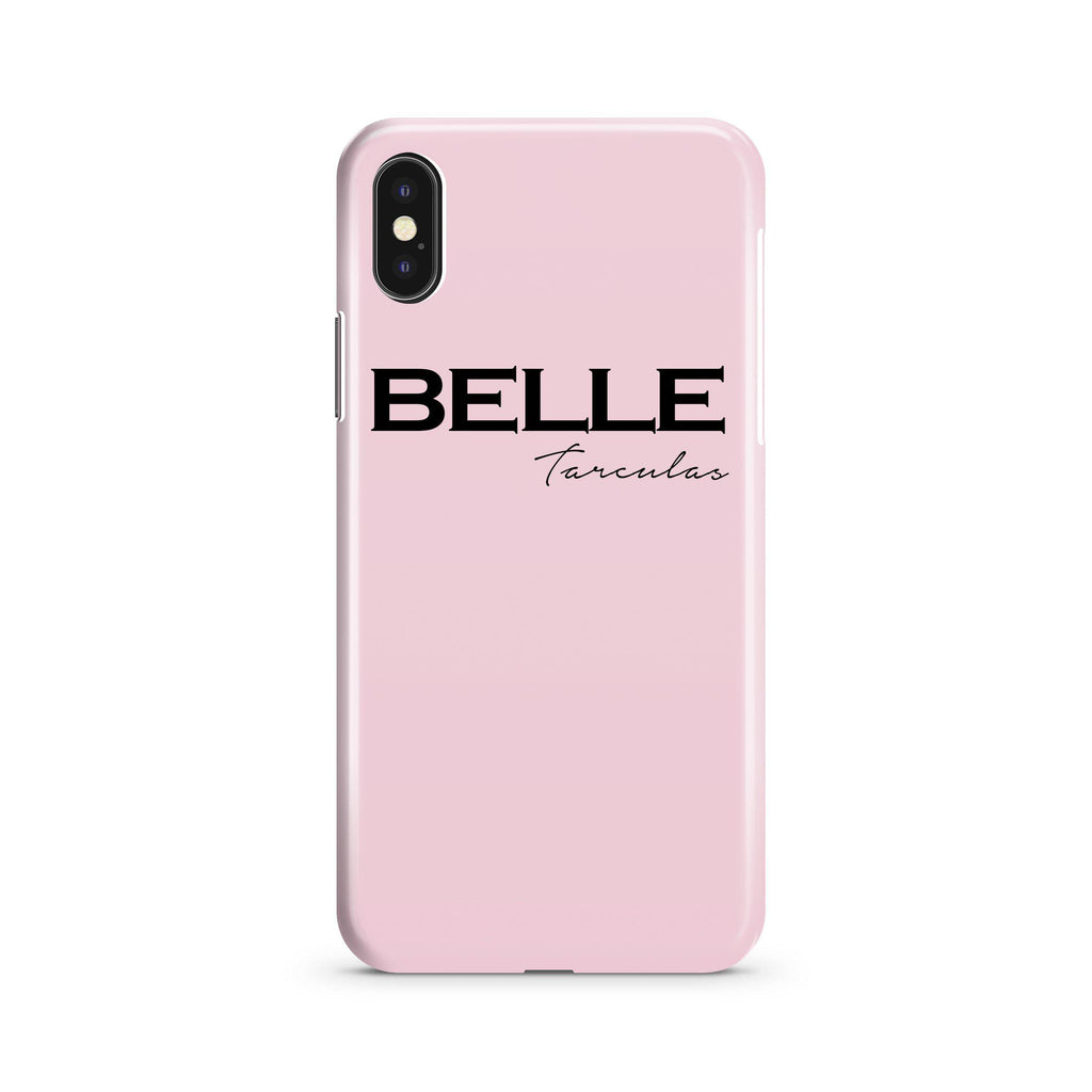 Personalised Bloom Name iPhone XS Case