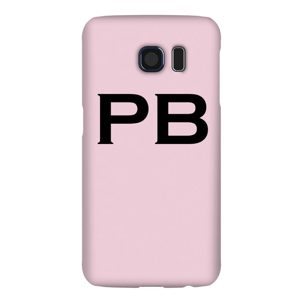 Personalised Bloom Top Initials Samsung Galaxy S6 Case