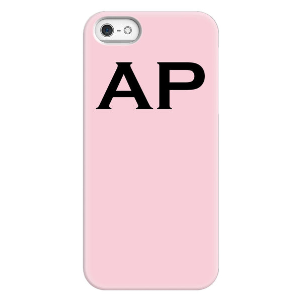 Personalised Bloom Top Initials iPhone 5/5s/SE (2016) Case