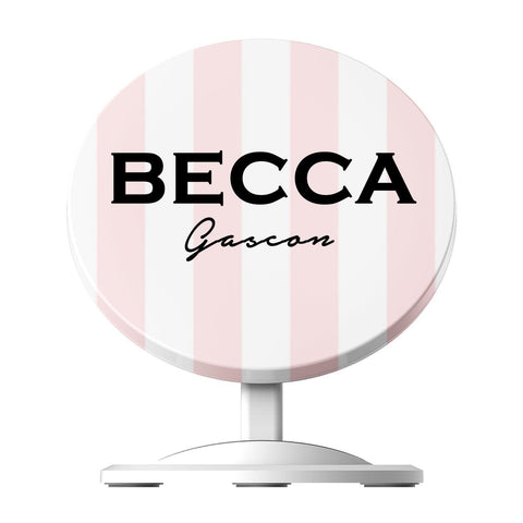 Personalised Bloom Stripe  Wireless Charger