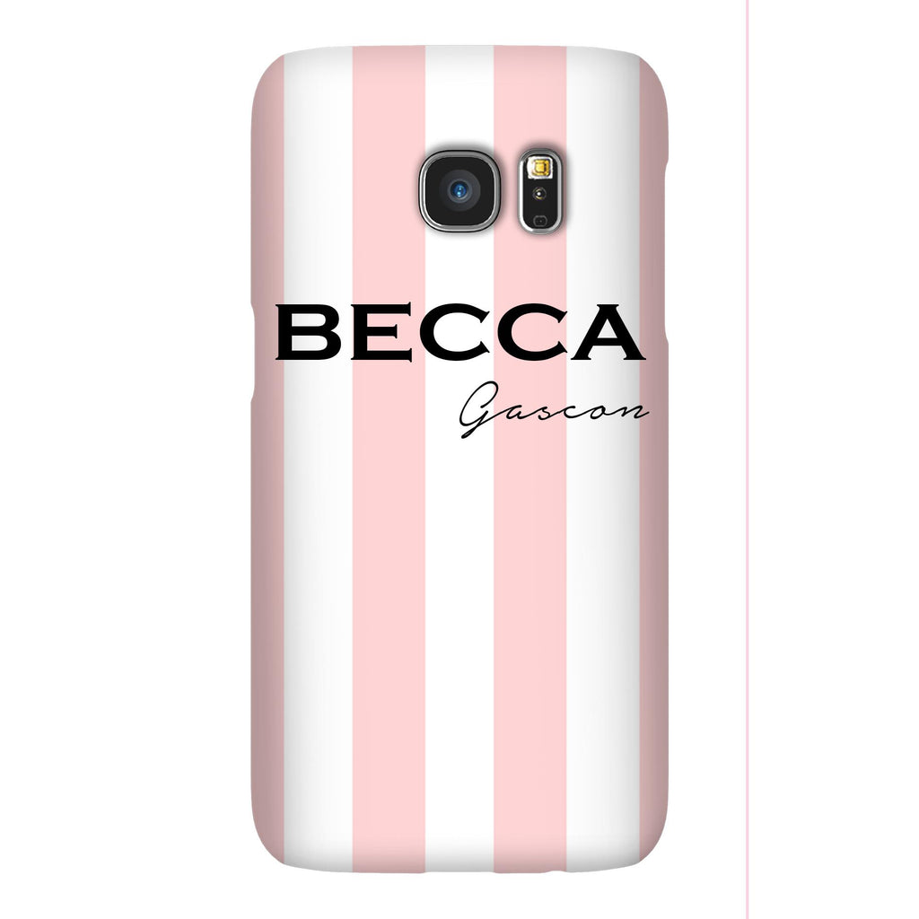 Personalised Bloom Stripe Samsung Galaxy S7 Case