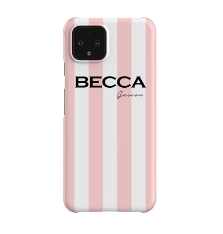 Personalised Bloom Stripe Google Pixel 4XL Case
