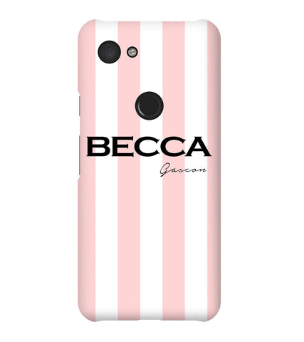 Personalised Bloom Stripe Google Pixel 3a Case