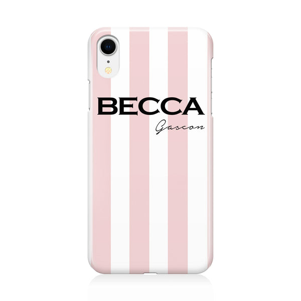 Personalised Bloom Stripe iPhone XR Case