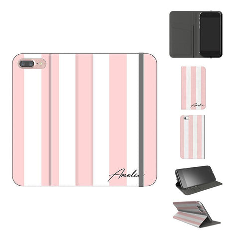 Personalised Bloom Stripe iPhone 8 Plus Case
