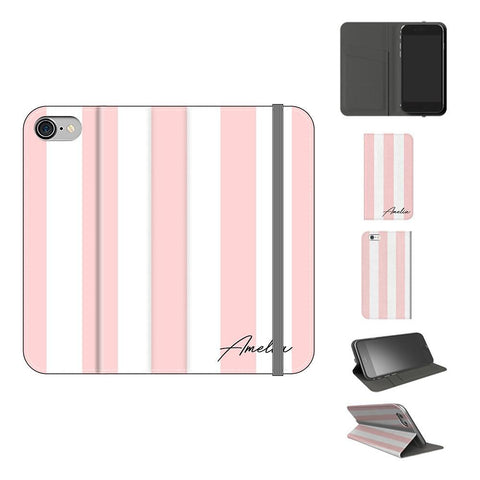 Personalised Bloom Stripe iPhone 8 Case