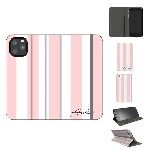 Personalised Bloom Stripe iPhone 11 Pro Max Case