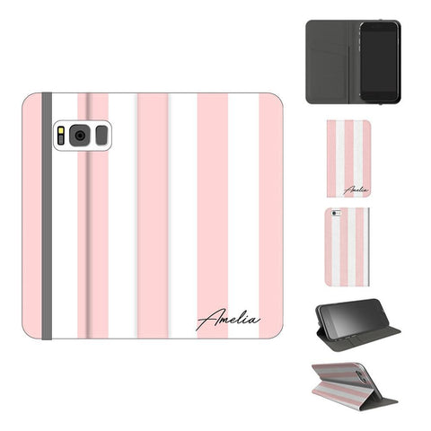 Personalised Bloom Stripe Samsung Galaxy S8 Case