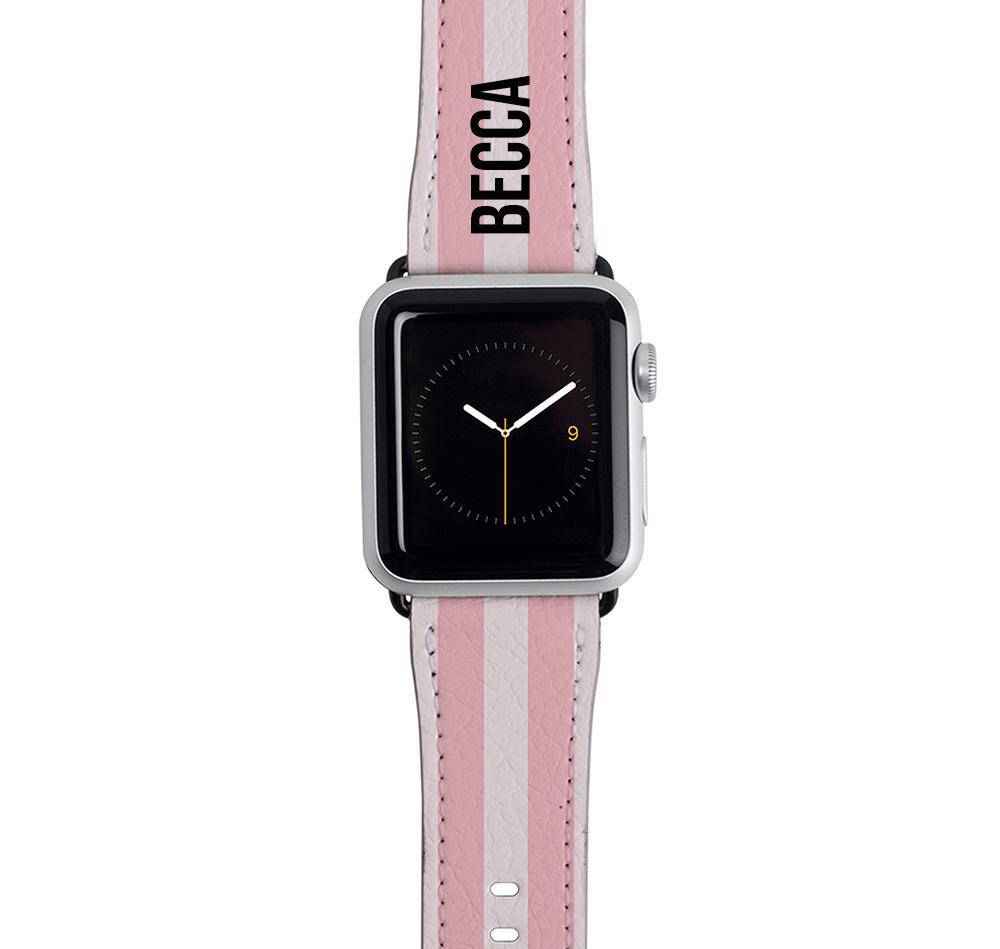 Personalised Bloom Stripes Apple Watch Strap