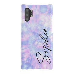 Personalised Blue Tie Dye Name Samsung Galaxy Note 10+ Case