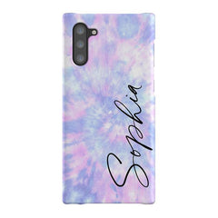 Personalised Blue Tie Dye Name Samsung Galaxy Note 10 Case