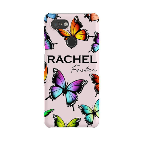 Personalised Butterfly Name Google Pixel 3 Case
