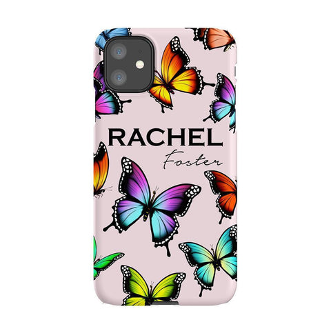 Personalised Butterfly Name iPhone 11 Case