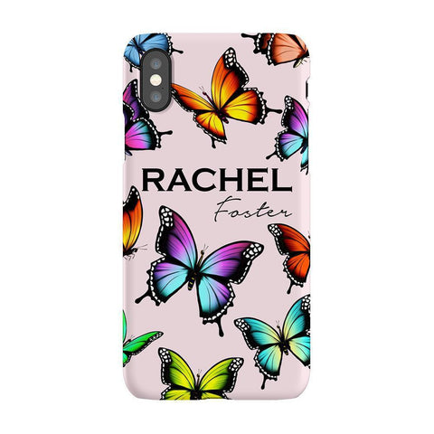 Personalised Butterfly Name iPhone XS Max Case