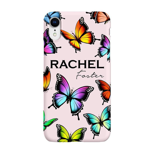 Personalised Butterfly Name iPhone XR Case