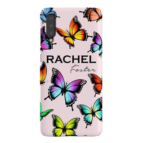 Personalised Butterfly Name Samsung Galaxy A50 Case