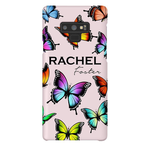Personalised Butterfly Name Samsung Galaxy Note 9 Case