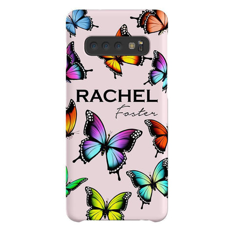 Personalised Butterfly Name Samsung Galaxy S10 Case