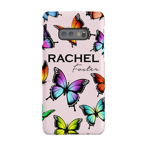 Personalised Butterfly Name Samsung Galaxy S10E Case