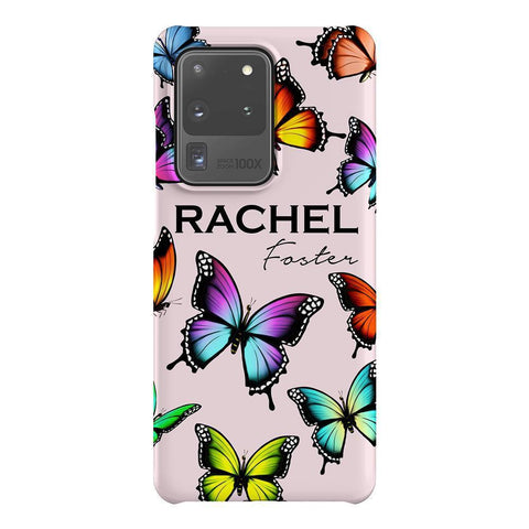 Personalised Butterfly Name Samsung Galaxy S20 Ultra Case