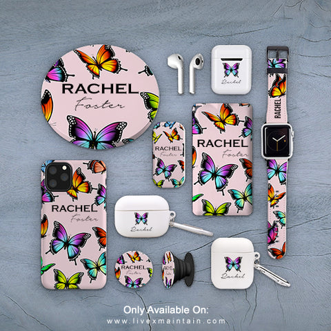 Personalised Butterfly Name Phone Case Accessories Package