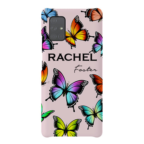 Personalised Butterfly Name Samsung Galaxy A51 5G Case