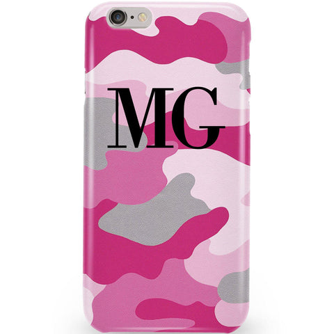 Personalised Pink Camouflage Initials Phone Case